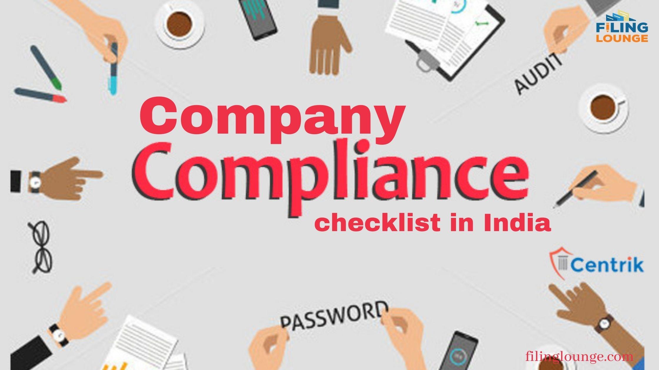 Company Compliance Checklist in India