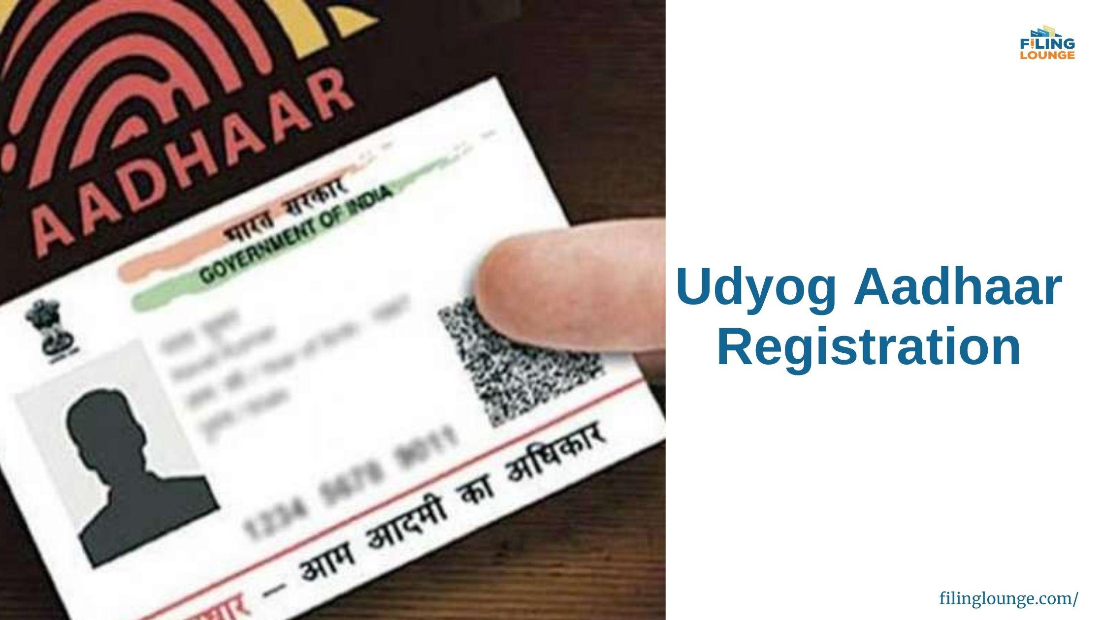 Udyog Aadhar Registration Certificate